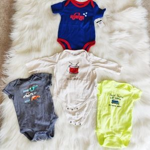 Baby Onesie Shirts Bundle with one NWT